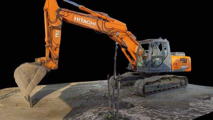 Excavator 3d scan RAW 3D Model