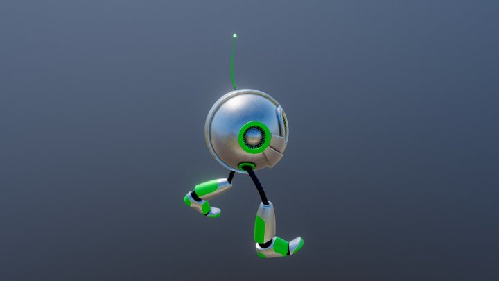 Stomp Walk Cycle 3D Model