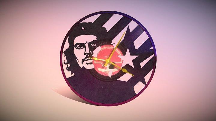 Clock Vinyl Che Guevara 3D Model