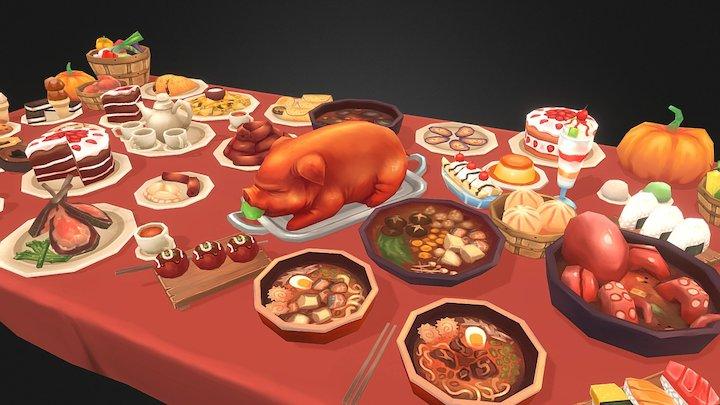 Delicious Food Stuffz 02 3D Model