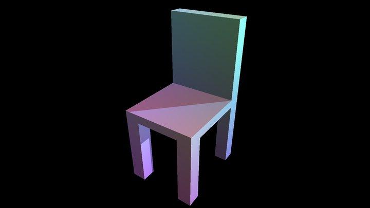 Color Chair Model 3D Model