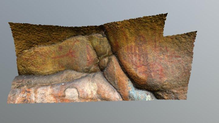 Petroglyphs (Karatal river) 3D Model