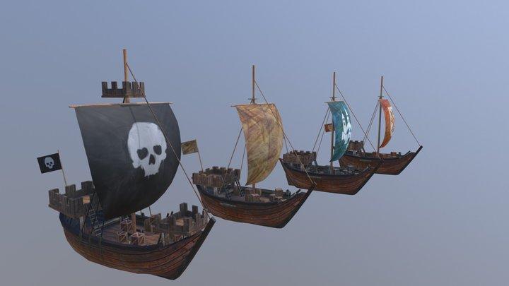 Koggeschepen 3D Model