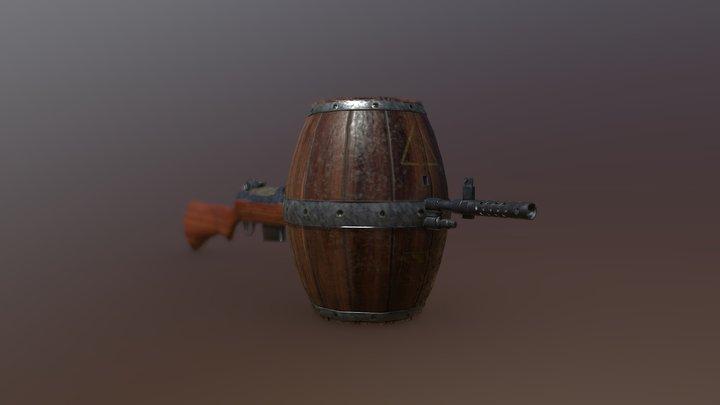 Barrel Gun 3D Model