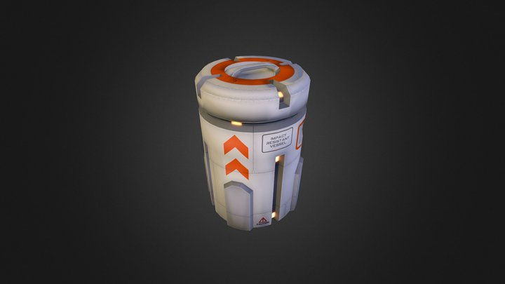 Space_Barrel 3D Model