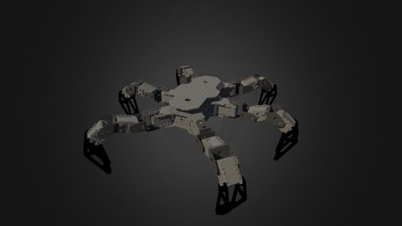 PhantomX Hexapod MKIII 3D Model
