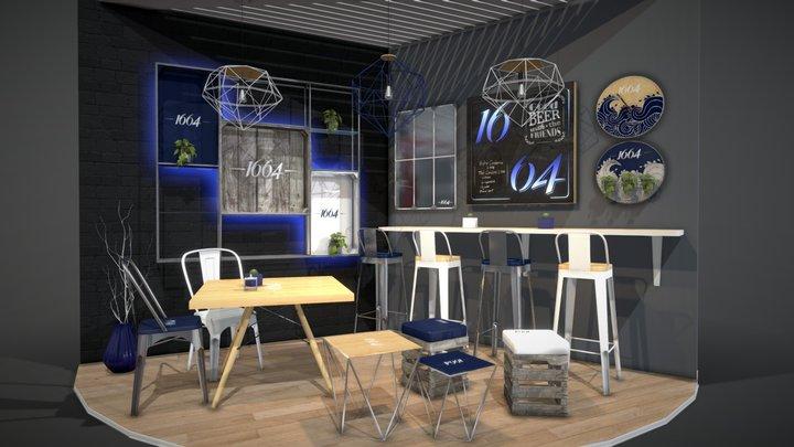 Furniture set interior architecture design 3D Model