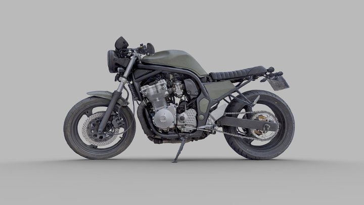 Suzuki Bandit 700 Custom 3D Model