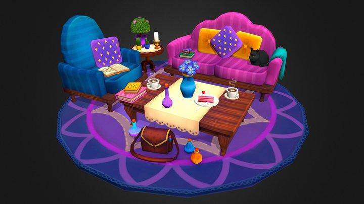 Witchy Livingroom 3D Model