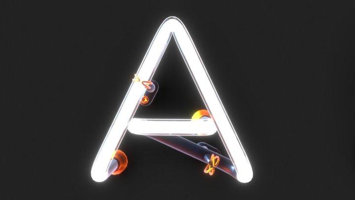 Neon Typografy 3D Model