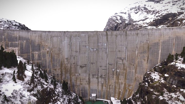 Switzerland - Zervreila Dam 3D Model