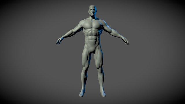 Superhero Basemesh 3D Model