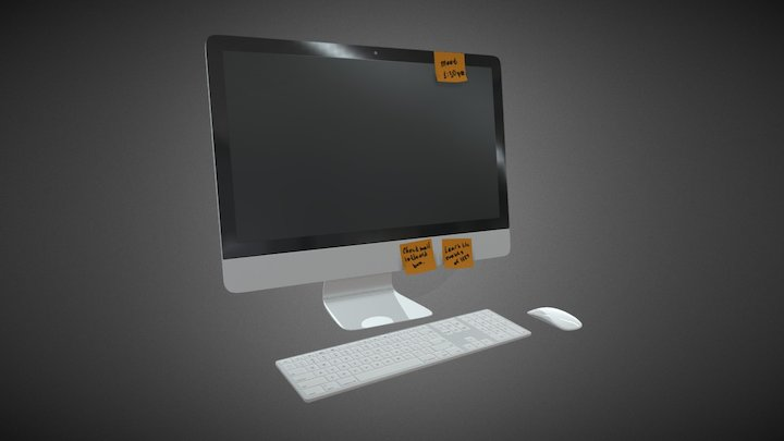 All In One computer 3D Model