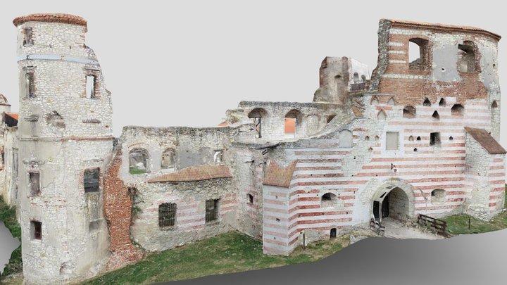 Castle in Janowiec on the Vistula River, Poland 3D Model