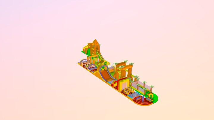 Air Run 150m 3D Model