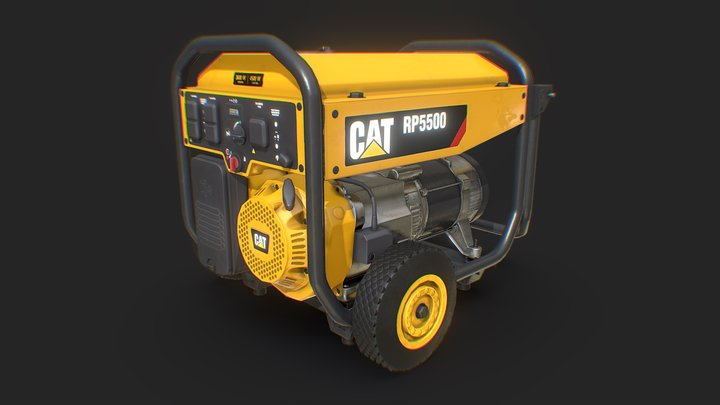 Electric generator - CAT RP 5500 3D Model