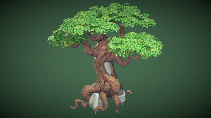 Cartoonish Tree 3D Model