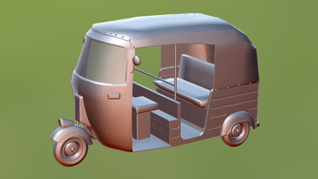 Metal Auto Rickshaw by Deepak Singh 3D Model