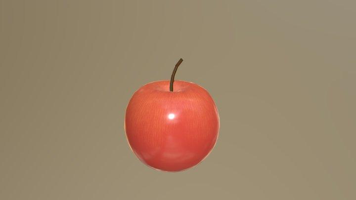 Apple Low Poly 3D Model