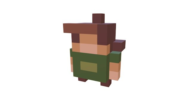 8bit Character V1 3D Model