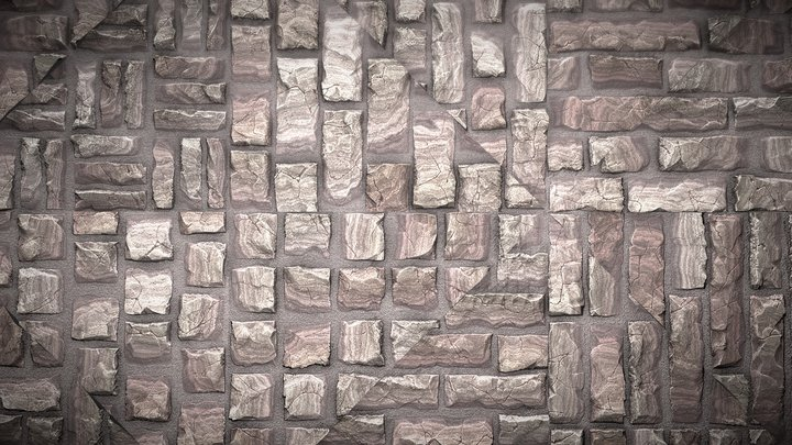 Ashlar Bricks 3D Model