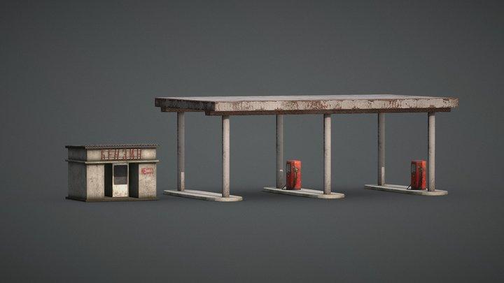 Gas Station USSR 3D Model