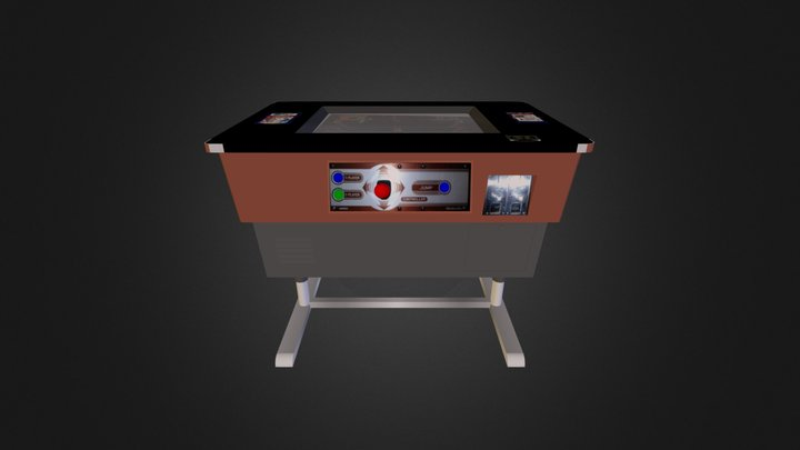 Tabletop Popeye Game 3D Model