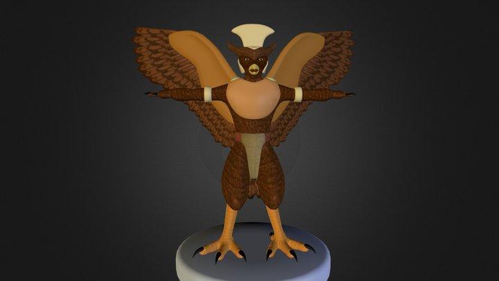 Buho Guerrero Mochica 3D Model