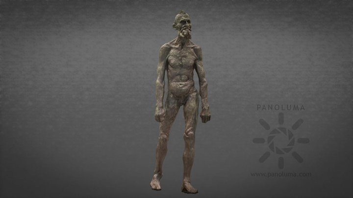 Rodin - Nude Study for Eustache de Saint-Pierre 3D Model