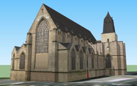 Église Saint-Germain de Rennes  3D Model