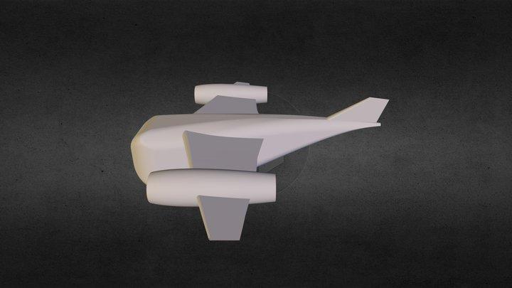 Realistic Bubble Plane Prototype 3D Model