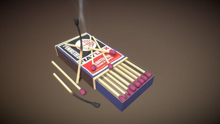 Caixa de Fósforo 3D Model