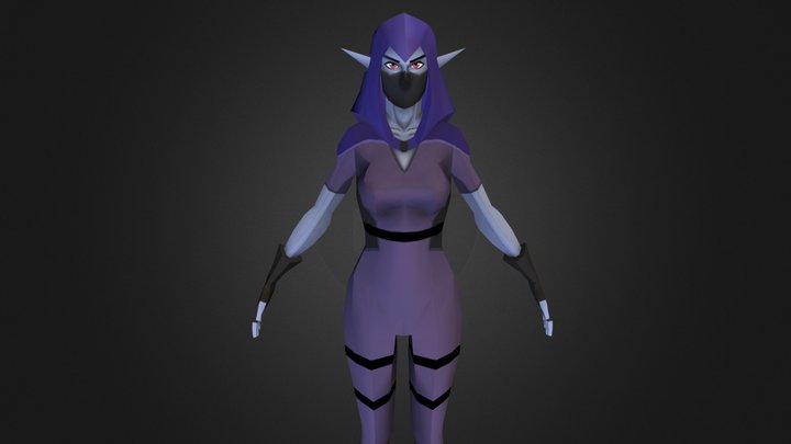 Elf Rogue 3D Model
