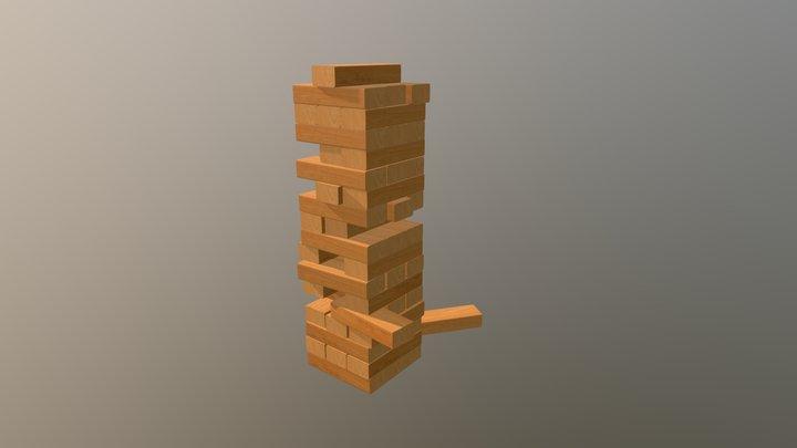 Jenga Tower 3D Model