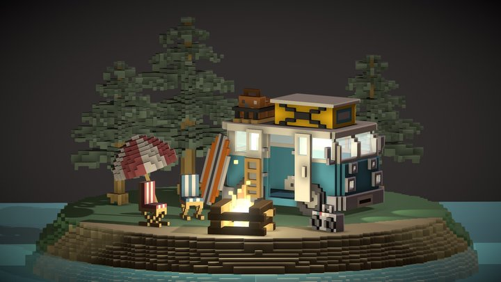 Camper Island 3D Model