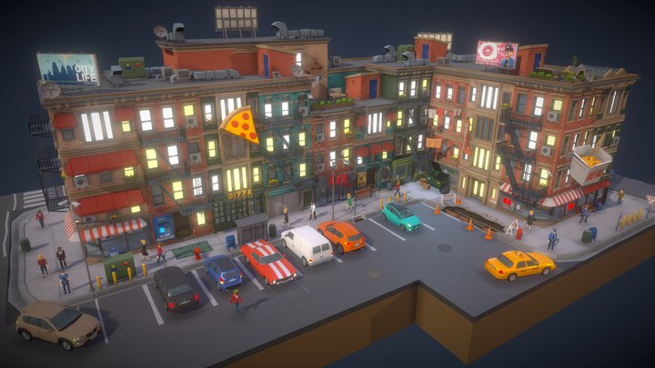 POLYGON - City Pack preview 3D Model