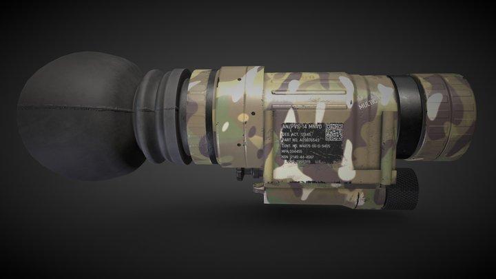 PVS-14 Night Vision (Multicam) 3D Model