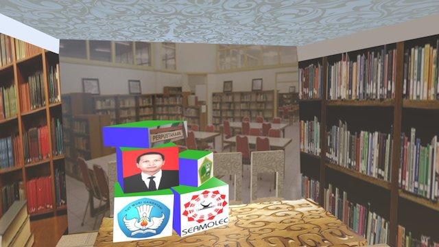 Ruang Baca Siswa Perpustakaan (Library) 3D Model