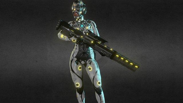 Sniper Posing 3D Model