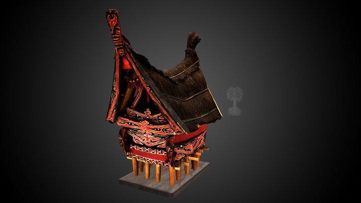 Modell eines Reisspeichers der Batak 3D Model