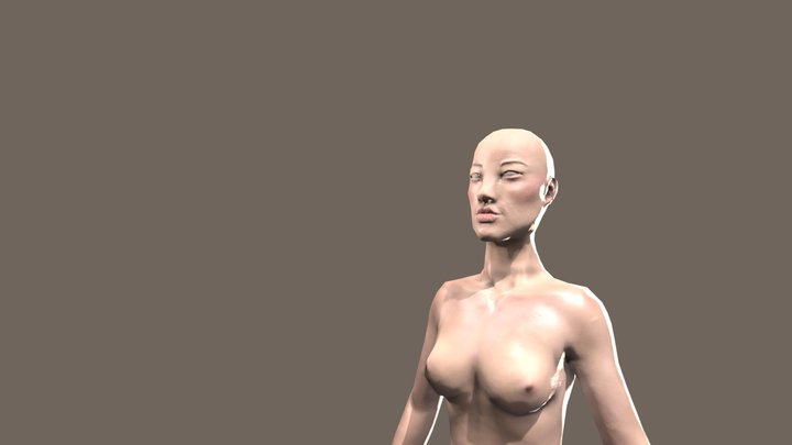 FemaleCharacter_AsianBaseModel 3D Model