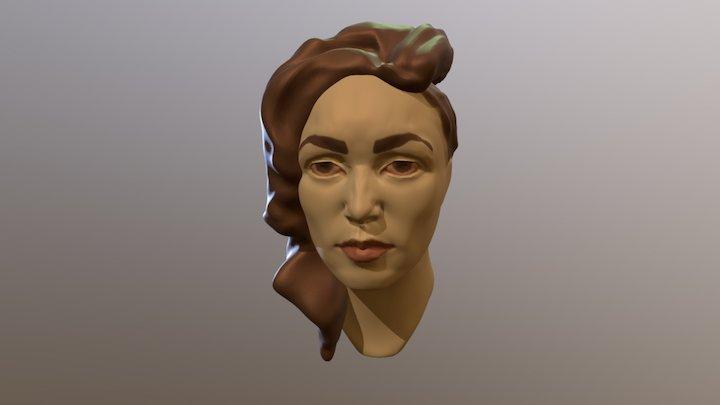 Woman Sculpt Painted 3D Model