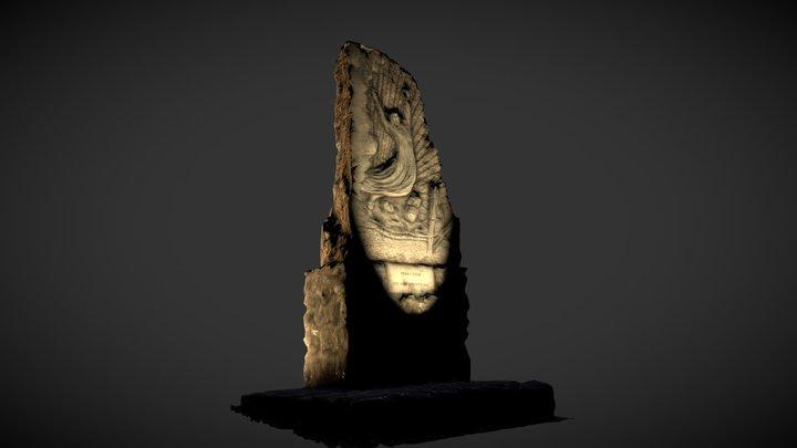 Madonna del Piano - enlighted statue 3D Model