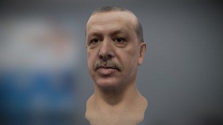 Recep Tayyip Erdoğan - 3D Face Modelling 3D Model