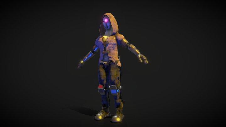 Cyberpunk Robot 3D Model