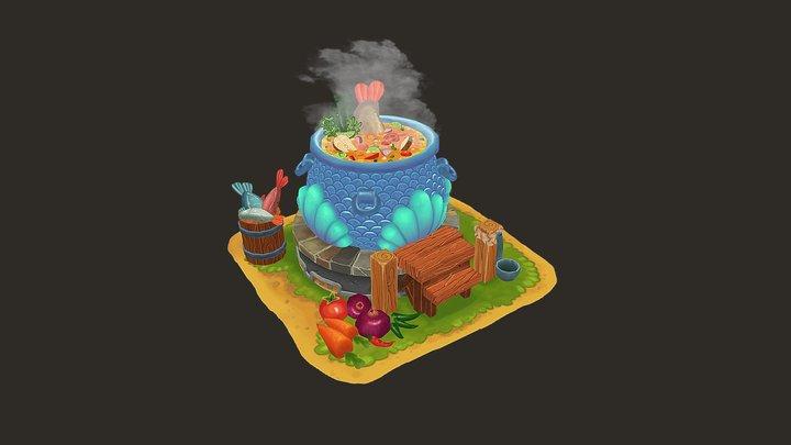 FishSoup_Pot 3D Model