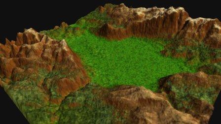 La Grande, Valley, Oregon 3D Model