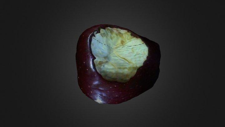 Partially bitten apple - Mesh 3D Model