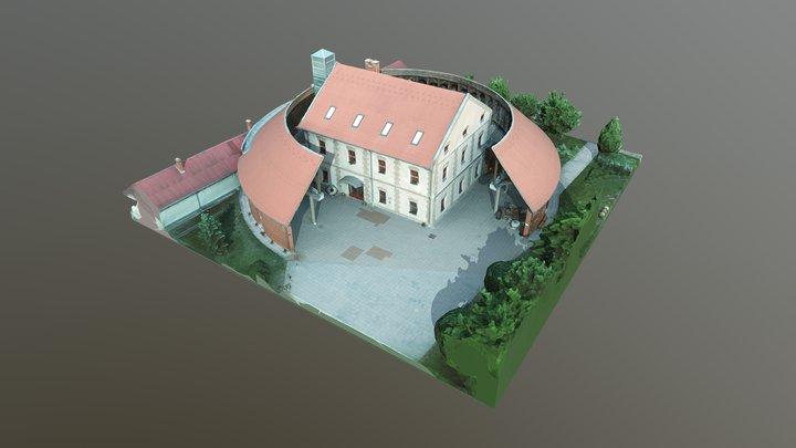 Déryné Művelődési Központ és Könyvtár - Törtel 3D Model