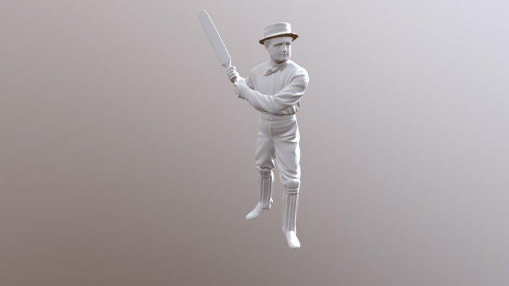 Victorian cricketer 3D Model